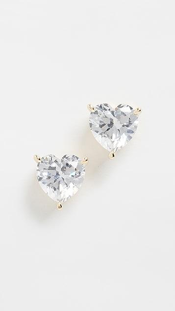 Adina's Jewels Heart Stone 耳钉