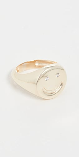 Adina's Jewels - Smiley Face Pinky Ring