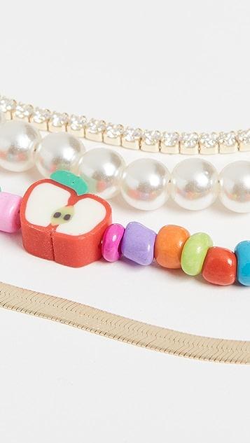 Adina's Jewels The Iconic Camp 项链组合套装