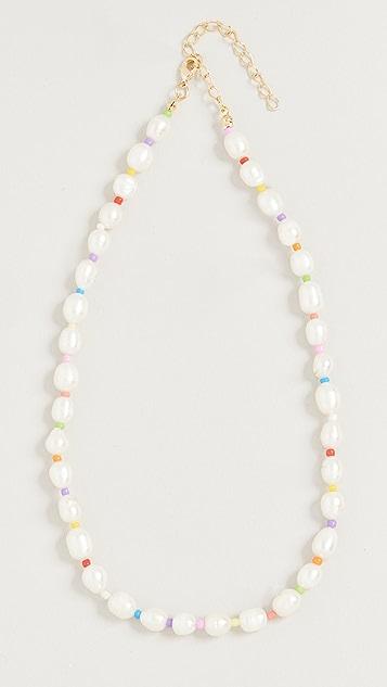 Adina's Jewels Multi Color Pearl Bead Necklace