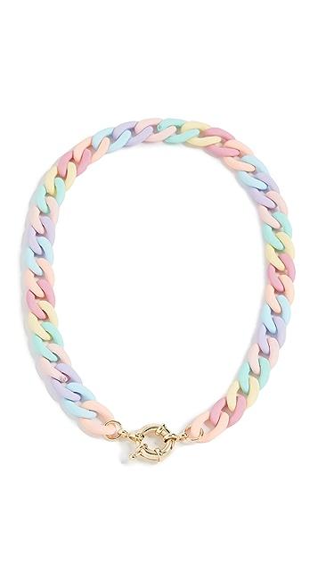 Adina's Jewels Pastel Colored Chain Link Toggle Choker