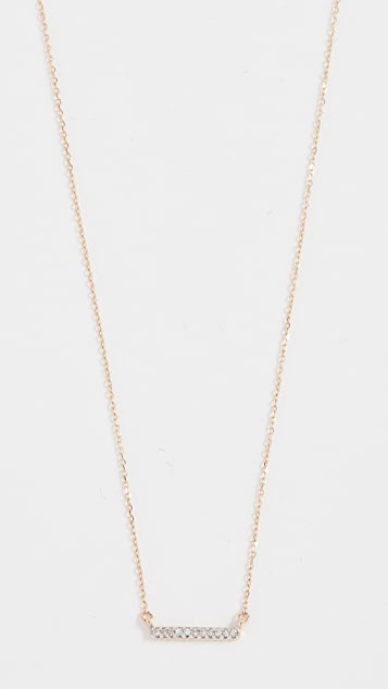 Adina Reyter 14k Gold Pave Bar Necklace - Gold