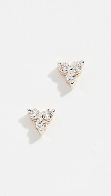 Adina Reyter 14k Gold Diamond Cluster Earrings