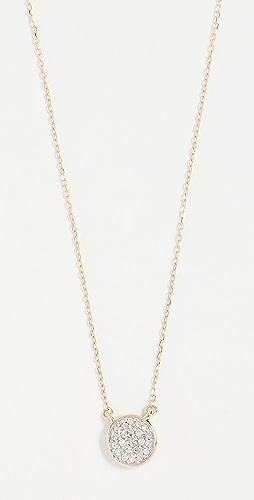 Adina Reyter - 14k Gold Solid Pave Disc Necklace