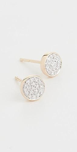 Adina Reyter - 14K 金纯色密镶圆片耳环