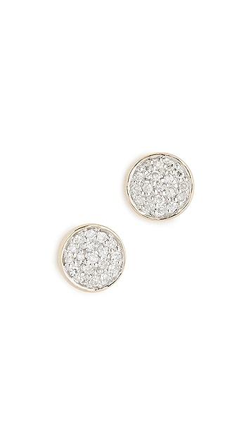 Adina Reyter 14K 金纯色密镶圆片耳环