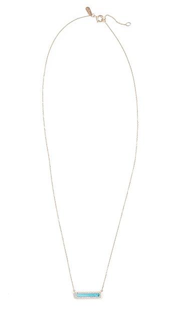 Adina Reyter 14k 绿松石 + 钻石条扣项链