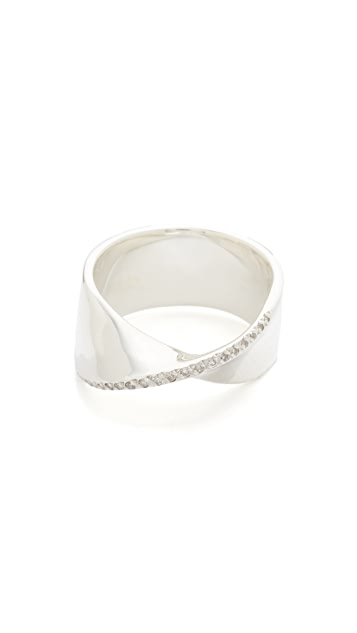 Adina Reyter Large Pave One Twist Ring