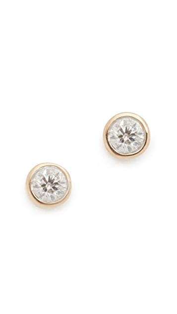 Adina Reyter 14k Gold Single Diamond Stud Earrings 85xgSxaJWI