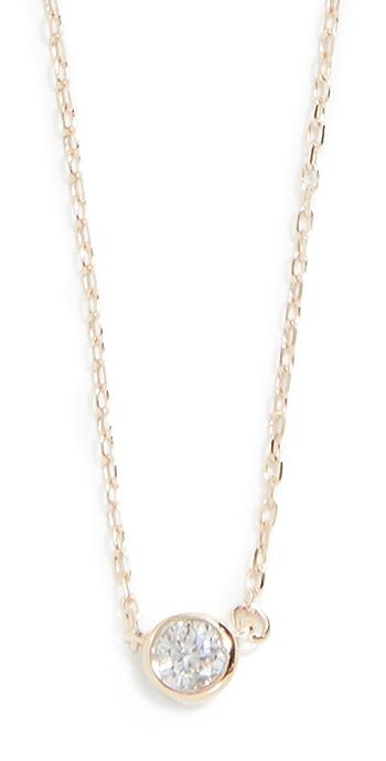 Adina Reyter 14k Gold Single Diamond Necklace - Gold