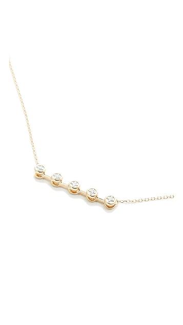 Adina Reyter 14k Gold 5 Diamond Necklace