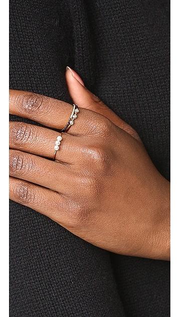 Adina Reyter 14k Gold 3 Diamond Ring