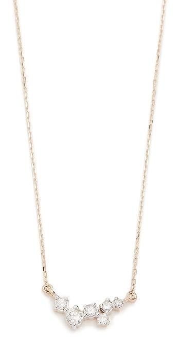 Adina Reyter 14k Gold Scattered Diamond Necklace - Gold