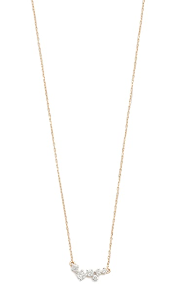add angie jewelz products essentials diamond raw necklace black single layering uncut diamomd by