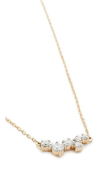 Adina Reyter 14k Gold Scattered Diamond Necklace