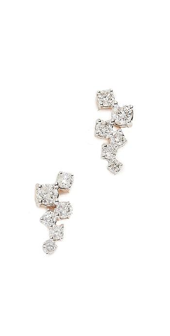 Adina Reyter 14k Gold Scattered Diamond Stud Earrings - Gold