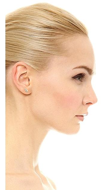 Adina Reyter 14k Gold Scattered Diamond Stud Earrings
