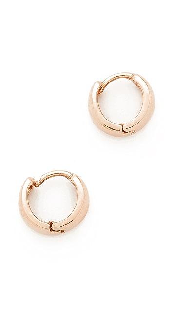 Adina Reyter 14k Gold Wide Huggie Hoop Earrings