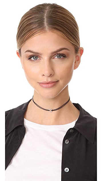 Adina Reyter Pave Hexagon Choker Necklace