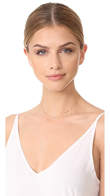 Adina Reyter 14k Gold Pave 3 Bar Chain Choker Necklace