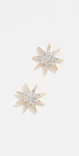 Adina Reyter - 14k Gold Solid Pave Starburst Earrings