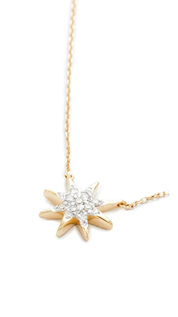 Adina Reyter Solid Pave Starburst Necklace