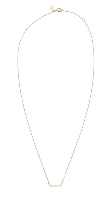 Adina Reyter 14k Gold Pave Bar Necklace