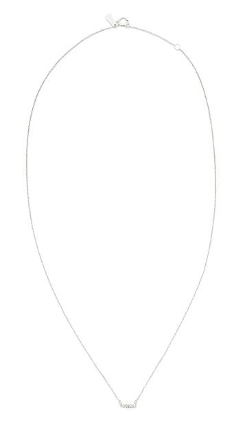 Adina Reyter 14k Gold Super Tiny Pave Bar Necklace