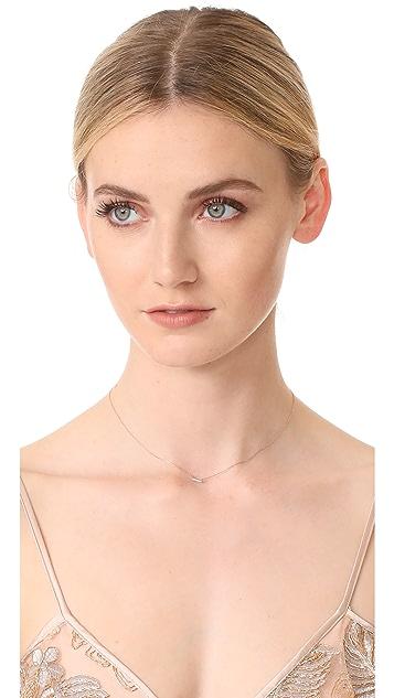 Adina Reyter Super Tiny Pave Bar Necklace