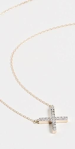 Adina Reyter - 14k Gold Pave X Necklace