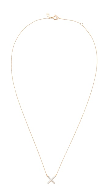Adina Reyter 14k Gold Pave X Necklace