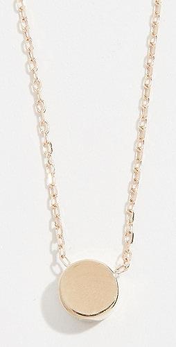 Adina Reyter - 14k Gold Super Tiny Disc Necklace