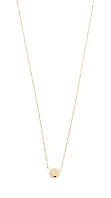 neck jen rose tiny disc dangle jh gold necklace hansen