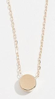 Adina Reyter 14k Gold Super Tiny Disc Necklace