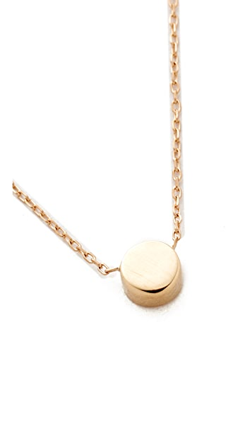 Adina Reyter 14k Gold Super Tiny Disc Necklace