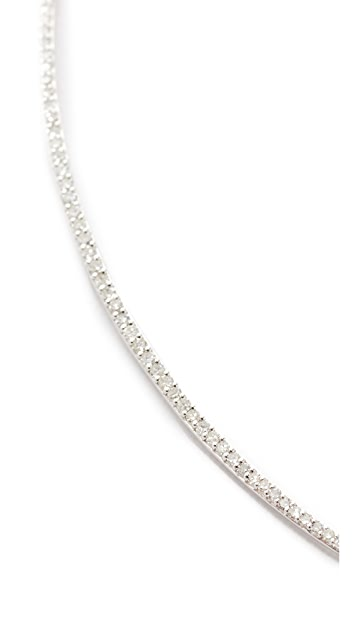 Adina Reyter 14k Gold Pave Curve Collar Necklace