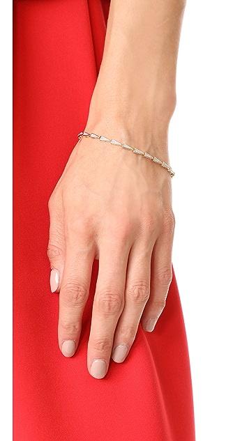 Adina Reyter 14k Gold Pave Triangle Tennis Bracelet