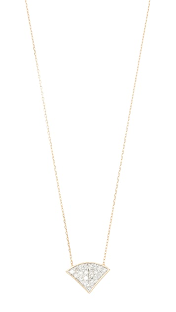 Adina Reyter 14k Gold Pave Folded Fan Necklace