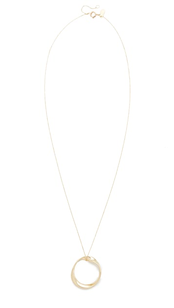 Adina Reyter 14k Gold Large Twist Circle Necklace