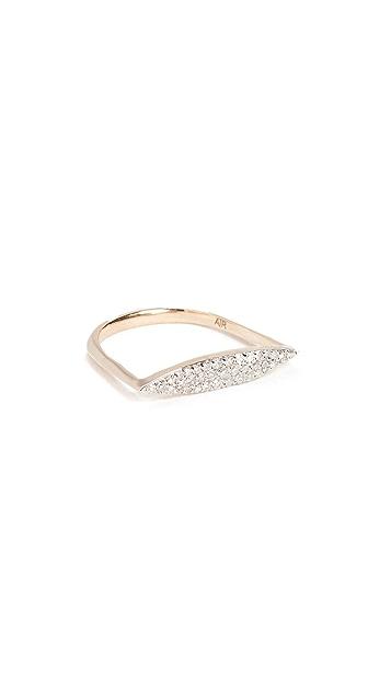 Adina Reyter 14k Gold Pave Marquise Ring