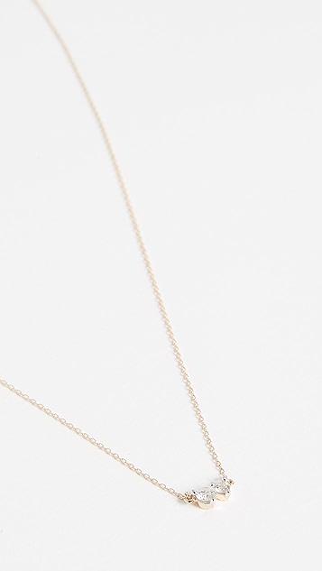 Adina Reyter 14k Gold Two Diamond Amigos Necklace