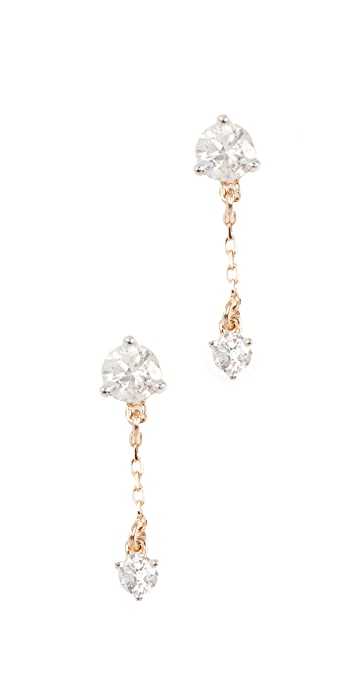 Adina Reyter 14k Gold Diamond Amigos Chain Post Earrings - Yellow Gold