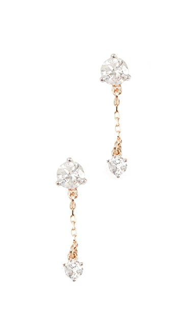 Adina Reyter 14k Gold Diamond Amigos Chain Post Earrings