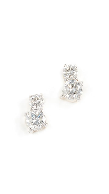 Adina Reyter 14k Gold Two Diamond Amigos Post Earrings