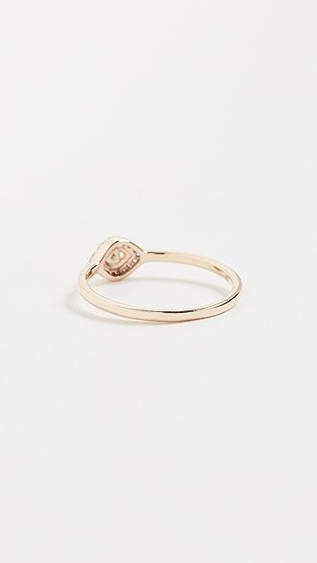 Adina Reyter 14K Gold Super Tiny Pave Evil Eye Ring