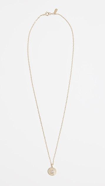 Adina Reyter 14k Gold Diamond Small Rays Pendant Necklace