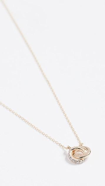 Adina Reyter 14K Gold Pave Interlocking Loop Necklace