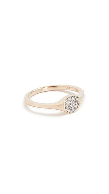 Adina Reyter 14K Gold Small Pave Signet Ring