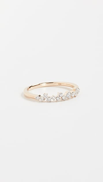 Adina Reyter 14K Gold Extended Scattered Diamond Ring - Yellow Gold