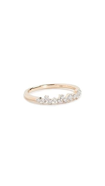 Adina Reyter 14K Gold Extended Scattered Diamond Ring